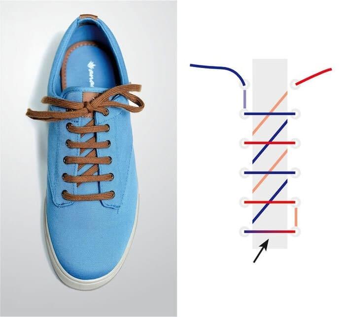 cách cột dây giày đẹp