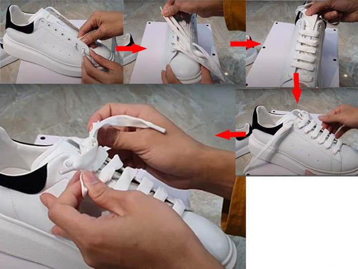 cách thắt dây giày mcqueen giấu dây