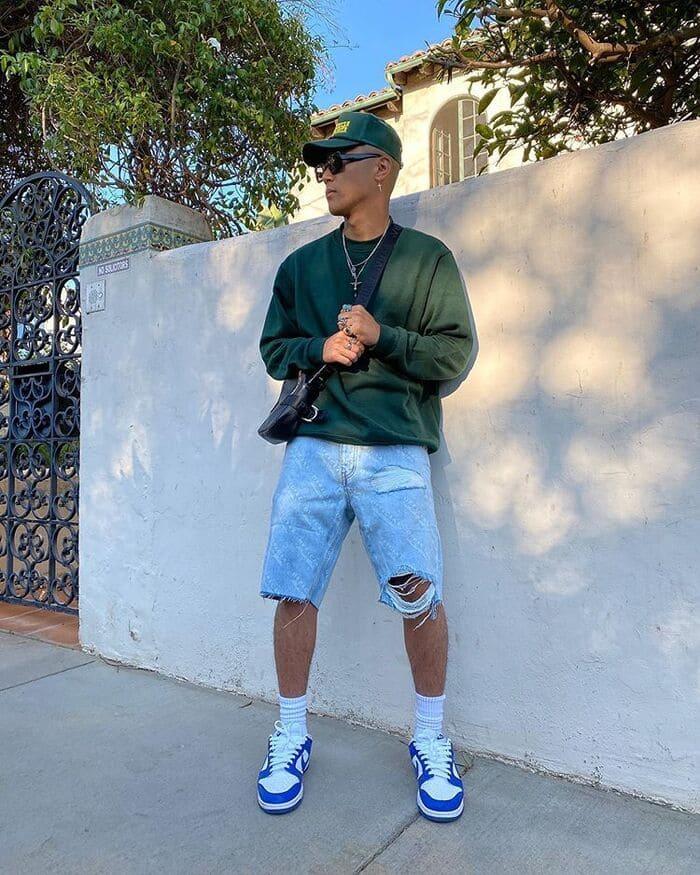 hướng dẫn mix đồ với giày nike air jordan nam cùng quần short jeans
