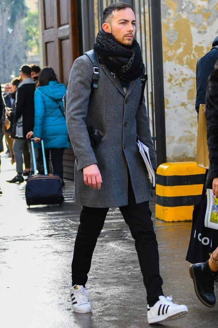 hướng dẫn phối đồ với giày adidas nam cùng quần tây lịch lãm
