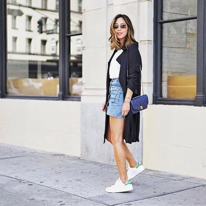 mix đồ với giày adidas nữ đẹp