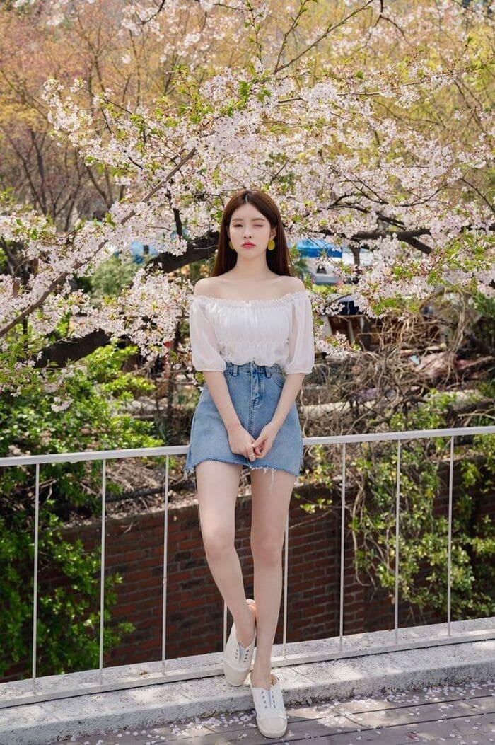 xu hướng váy jean hiện nay