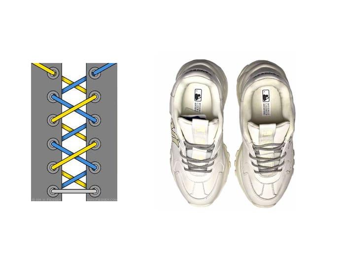 buộc dây giày mlb