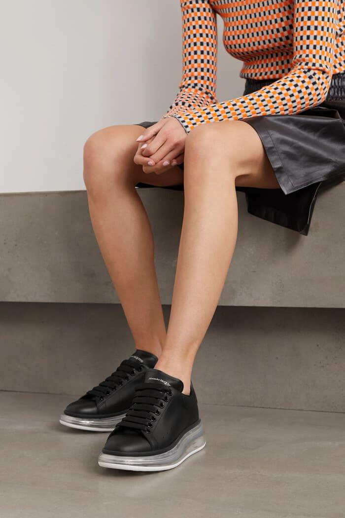 giày alexander đế trong suốt đẹp dành cho nữ