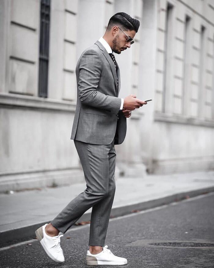 giày đi với quần vải ngầu