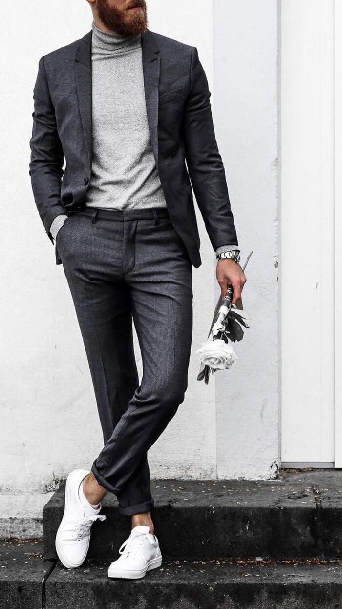 kết hợp giày với quần vải sành điệu