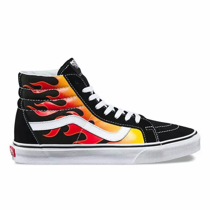 mẫu giày vans lửa cổ cao đẹp