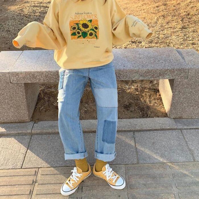 mix giày màu vàng nữ