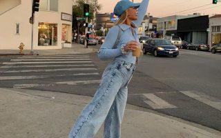 quần jean ống rộng kết hợp với giày gì