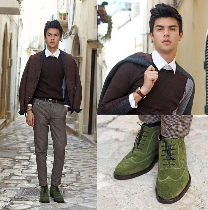 quần vải đi giày gì ngầu