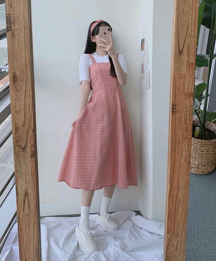 váy yếm vải