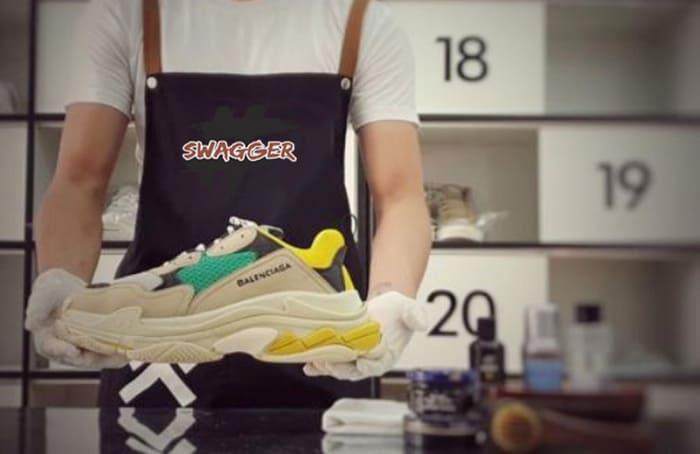 cách vệ sinh giày balenciaga