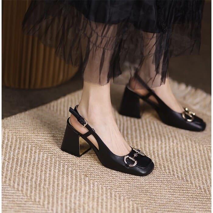 giày cao gót gucci gót vuông đẹp cho nữ