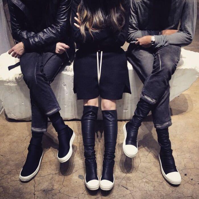 giày rick owens boot đẹp cho nam nữ