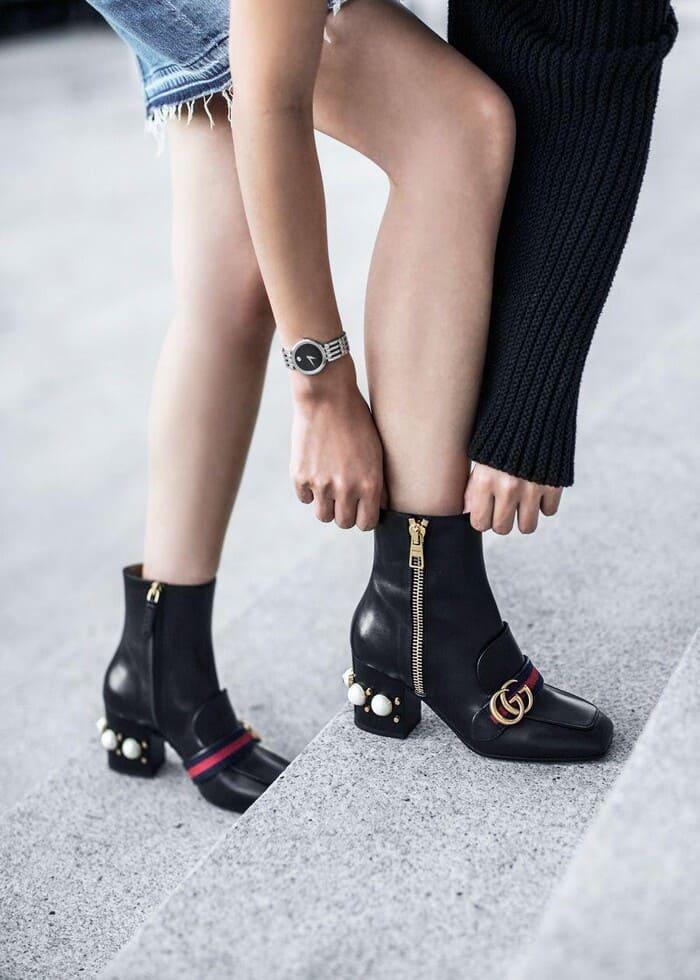 mẫu giày boot gucci đẹp cho nữ