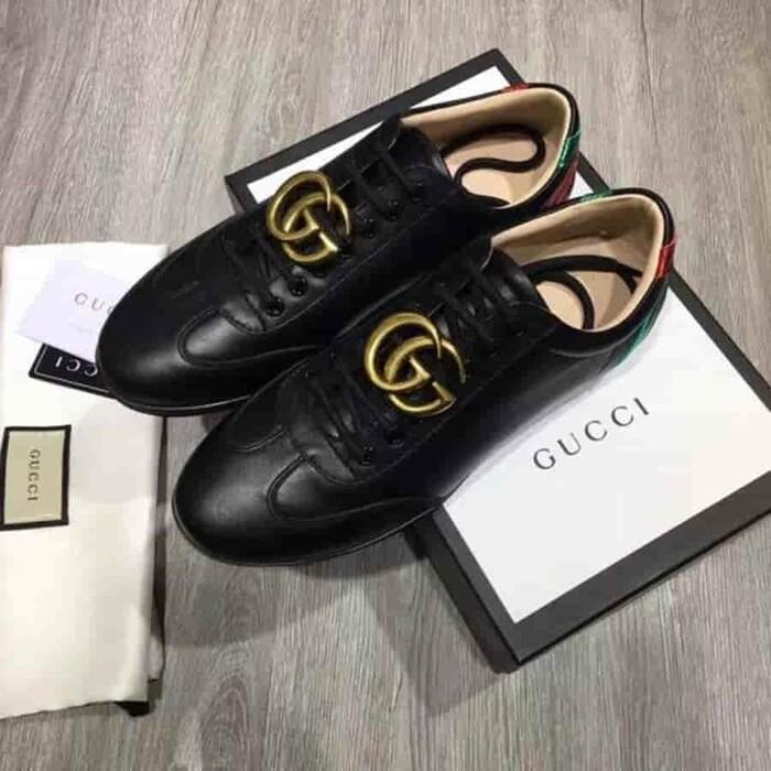 những mẫu giày gucci calfskin black sang trọng cho nam nữ